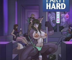 manga Party Hard, furry , muscle  transformation