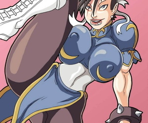 manga The Strongest Woman In The World, chun-li , futanari , big penis  big-penis