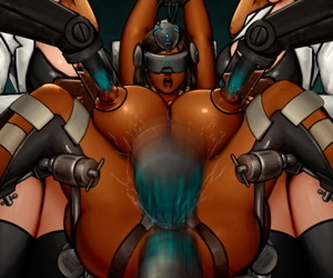 manga Pharah - Conversion, pharah , anal , dark skin  double penetration