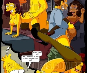 manga The Simpsons 10 - Christmas At The.., incest , threesome