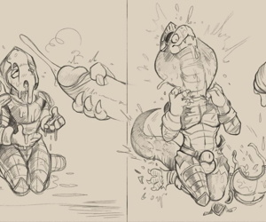 manga Snake Knight Transformation, furry  transformation